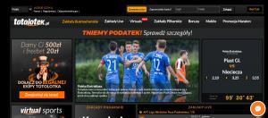 Zakłady Sportowe Totolotek - Widok