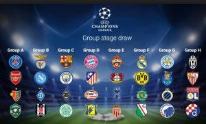 faza grupowa ligi mistrzów 2018